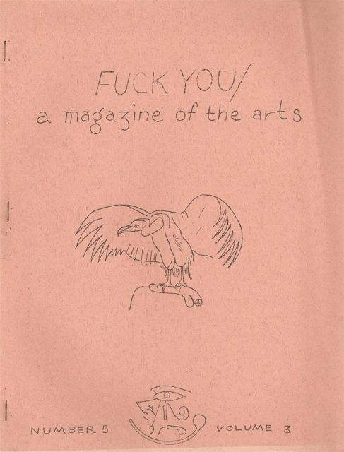FUCK YOU: A Magazine of the Arts - Number 5, Volume 3 (May 1963). Ed SANDERS.