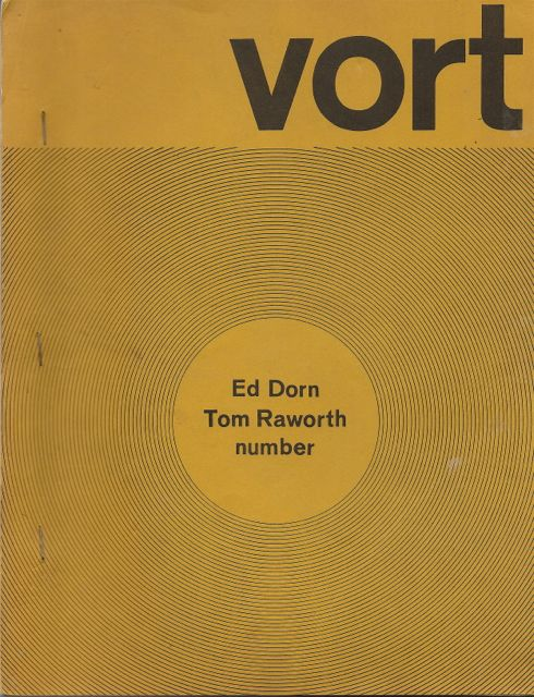 VORT #1. Barry ALPERT, Ed DORN, Tom Raworth.