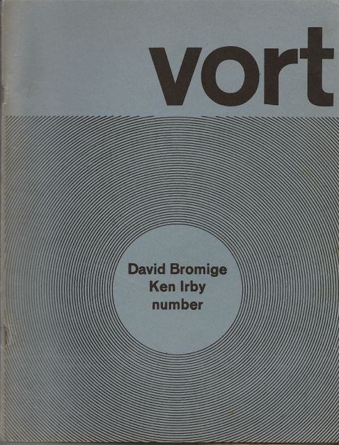 VORT #3. Barry ALPERT, David BROMIGE, Ken Irby.
