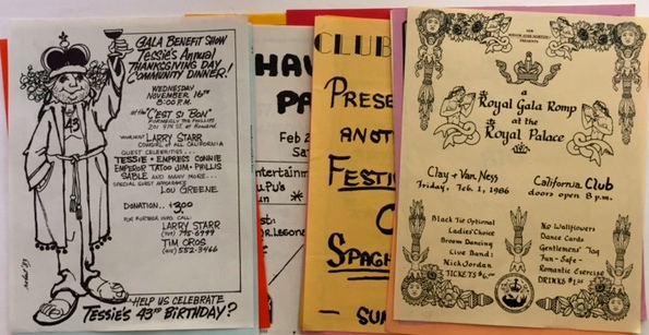 SAN FRANCISCO BAR AND TAVERN HANDBILLS 34 fliers advertising events in the 1980s