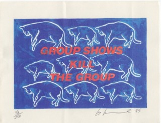 GROUP SHOWS KILL THE GROUP. Les LEVINE
