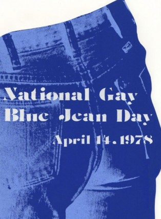 NATIONAL GAY BLUE JEAN DAY APRIL 14, 1978