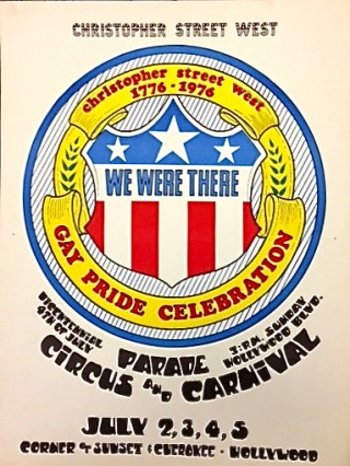 CHRISTOPHER STREET WEST / 1776-1976 / GAY PRIDE CELEBRATION [poster