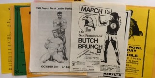 Collection of handbills from the 1980s & 1990s SF Eagle and California Eagles Motorcycle Club